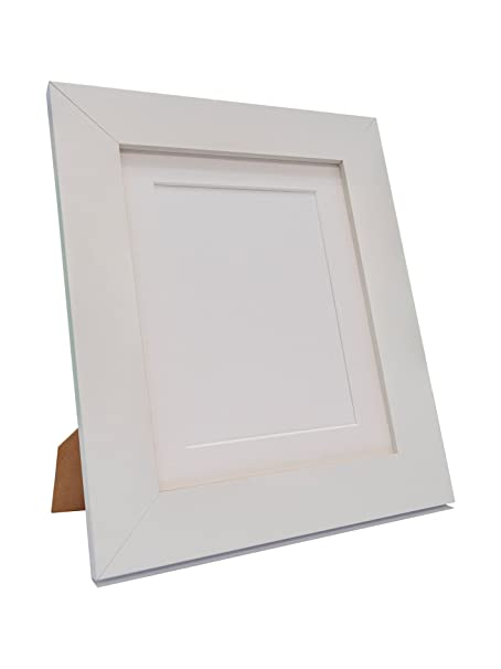 FRAMES BY POST Metro White Picture Photo Frame with White Mount 10 ...