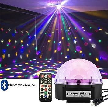 amazon com intsun disco ball strobe light party lights 6 color