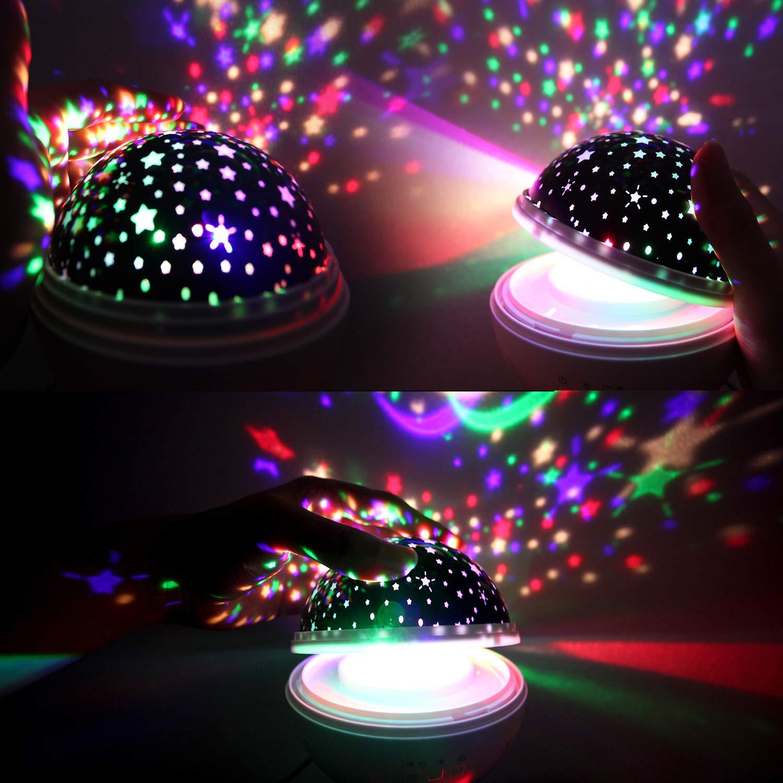 Oceano Luna Estrella Proyector para Ni/ños Beb/és para Ni/ños Peque/ños negro Noche Ligero Juguetes para Ni/ños de 2 a 10 A/ños regalos de ni/ños 1 a 12 A/ños