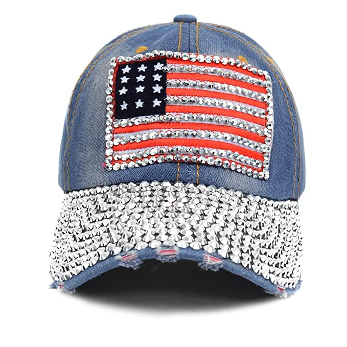 cff9d988fb4f5 Nollia Show Your American Pride! ~ Bling American Flag Embellished ...