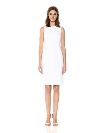 35c9d8514ac4a Calvin Klein Women s Cotton Blend Sleeveless Princess Seam Sheath Dress