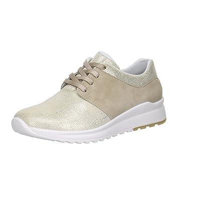 Damen Sneaker Beige Aus Leder von Größe 37 bis 41,5, Farben:Beige, Damen Größen:37.5 Legero