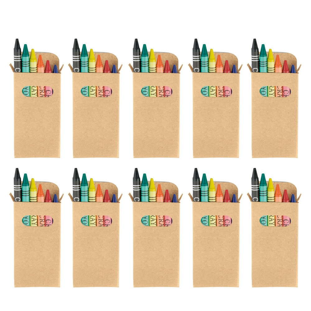 eBuyGB Sets of Colouring Wax Crayons - Kids Party Bag/Loot Toy Wedding Favour, Pack of 100 B079SYNVNF  100