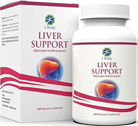 Liver Cleanse and Support Supplement – Milk Thistle Extract (Silymarin), Turmeric Curcumin, Dandelion Root, Artichoke, Vitamin B12 and More in 2 Vegetarian Capsules