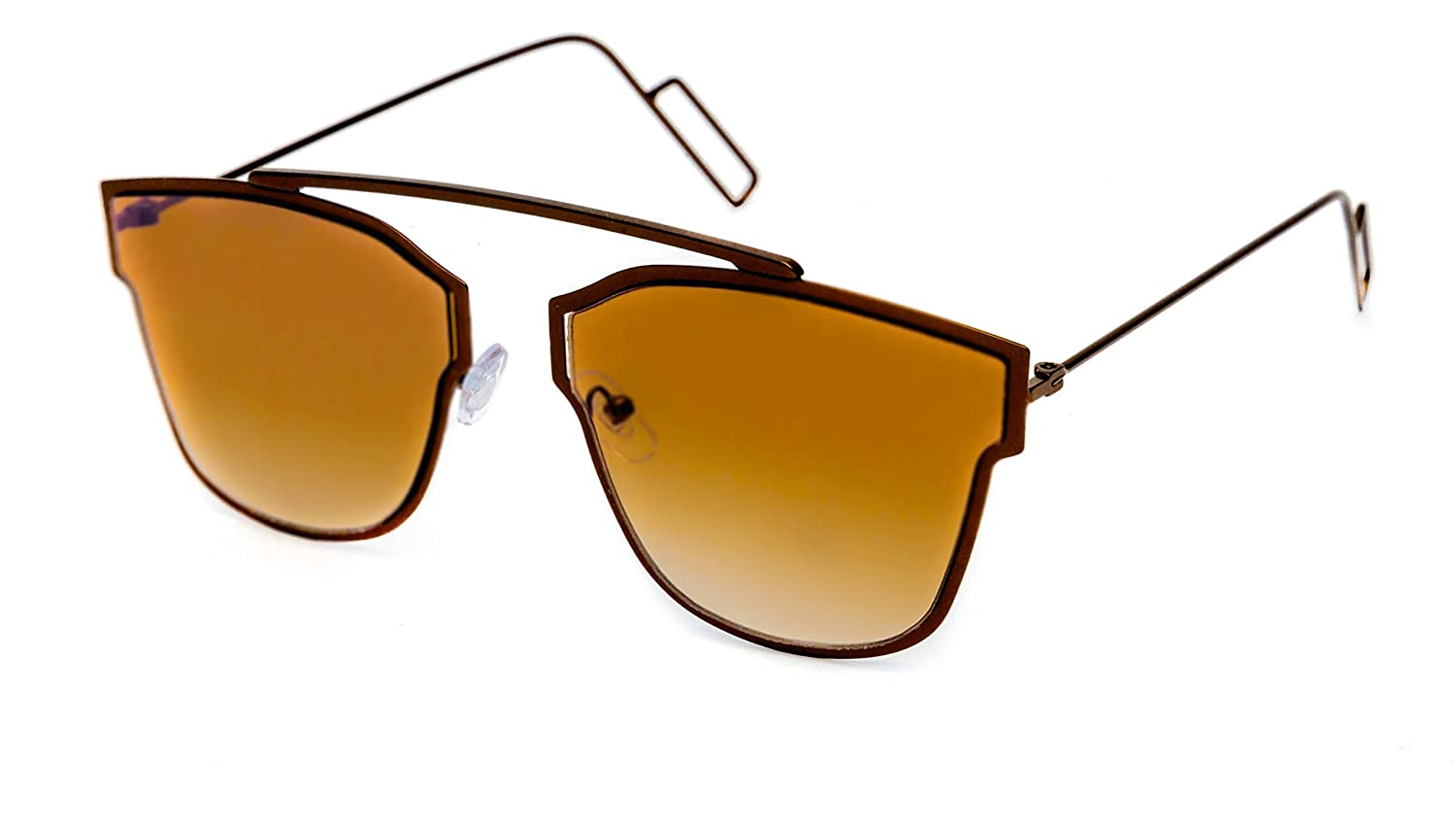 f900574690c TheWhoop UV Protected Stylish New Aviator Unisex Sunglasses (Brown)   Amazon.in  Clothing   Accessories