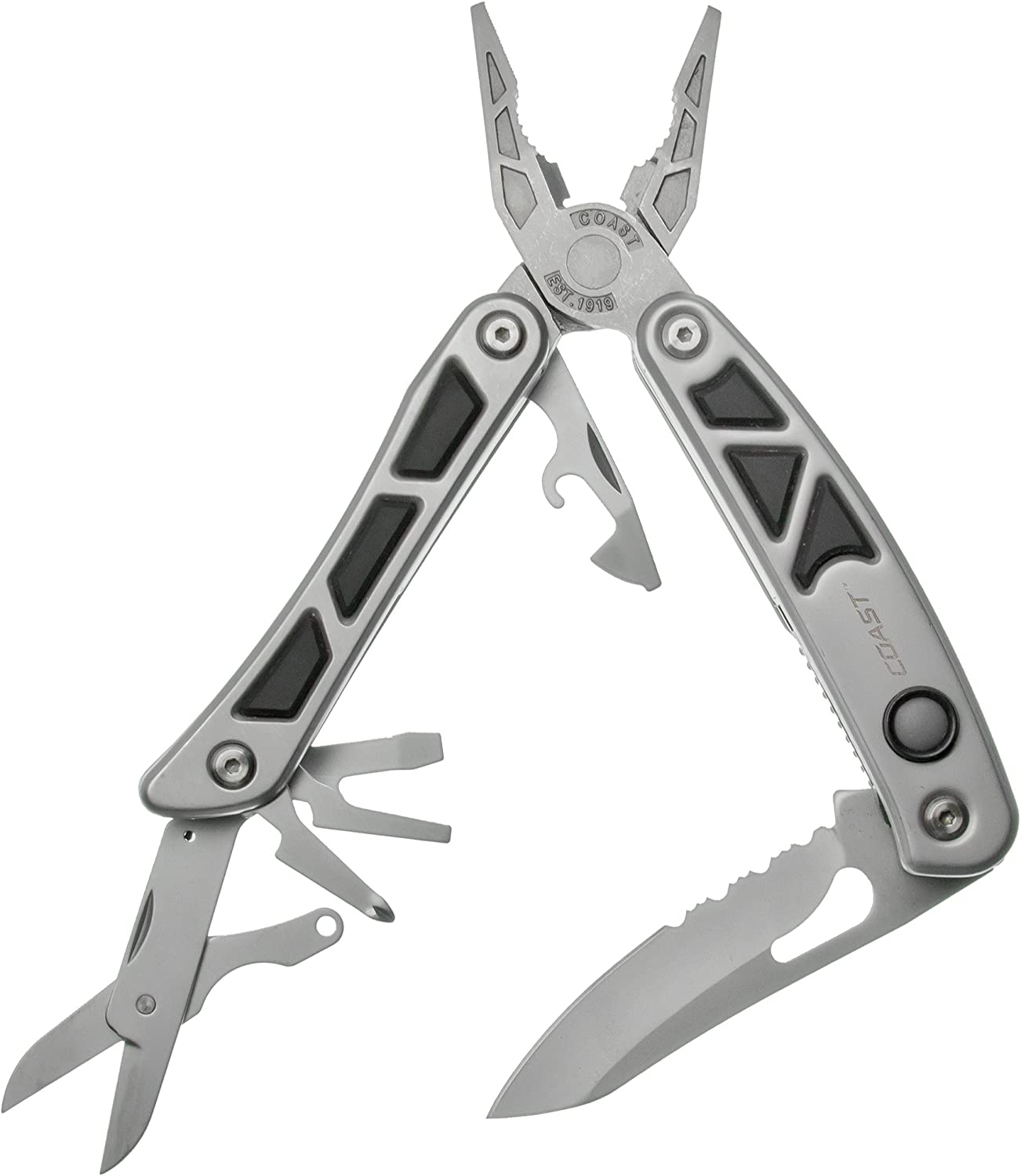 LED150 Dual LED Multi-Tool with 13 Tools, 3 Inch Stainless Steel Blade and 2 Built-In LED Lights