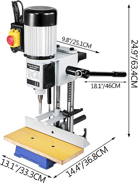 Mophorn Hohl Stemmmaschine Hohlmei/ßel Mortiser MS36127A3 f/ür Holzbearbeitung