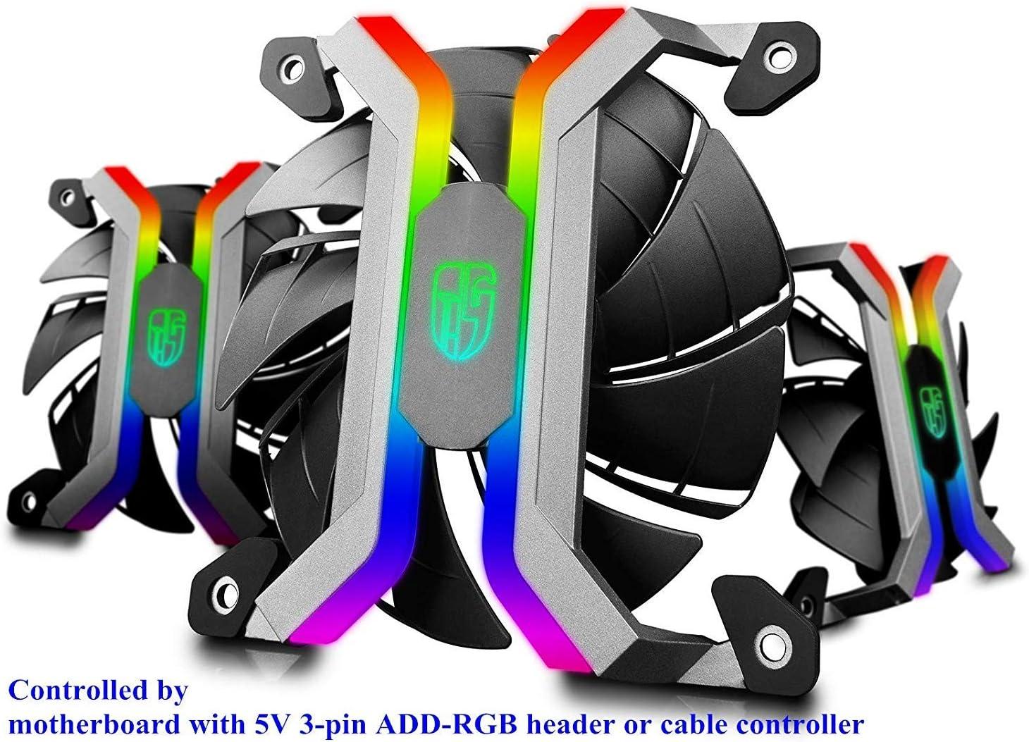 DEEP COOL MF120S 3x120mm PWM Ventiladores de Caja/Radiador, RGB ...