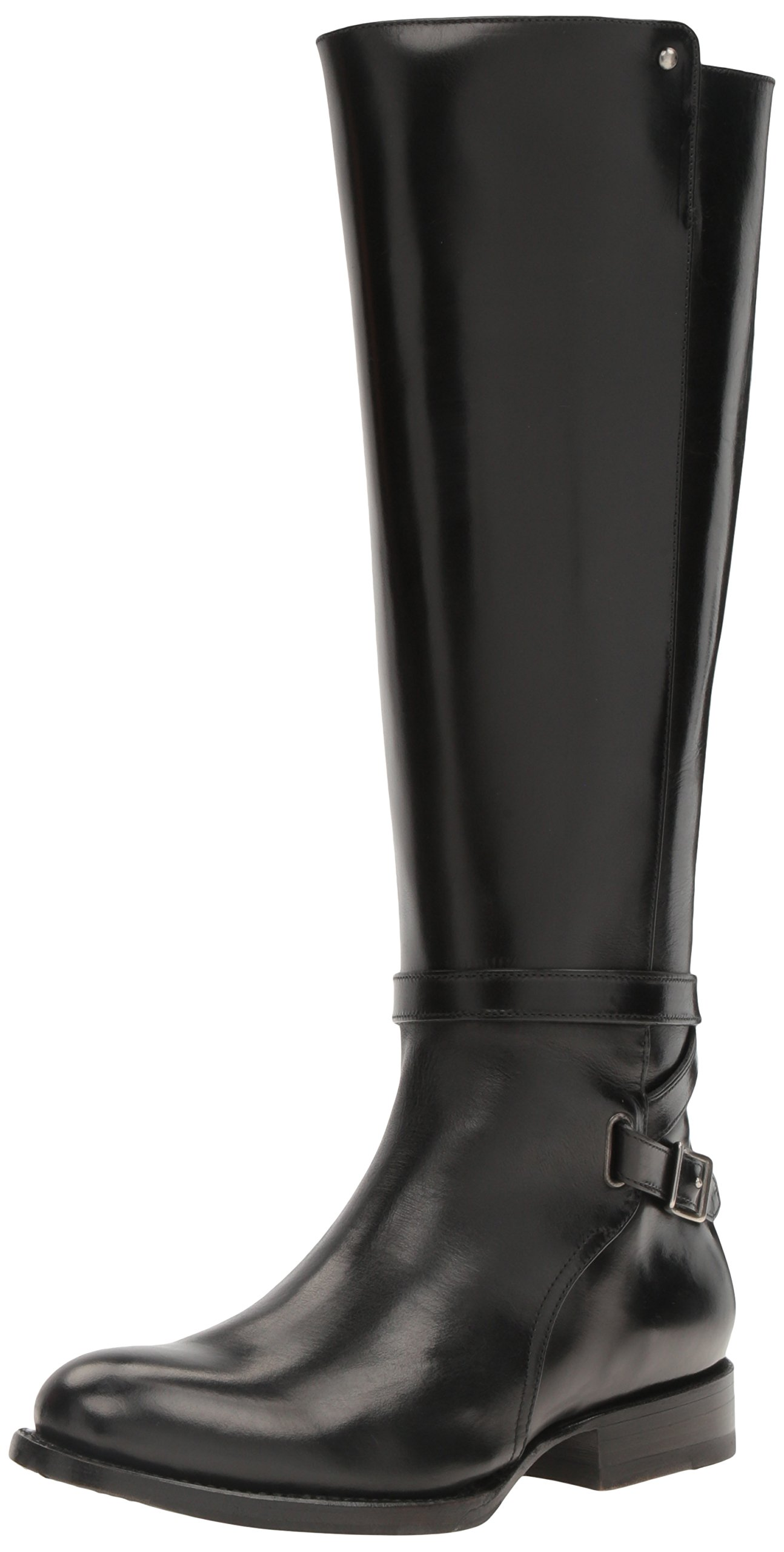FRYE Women's Jordan Strap Tall Riding Boot, Black, 8 M US