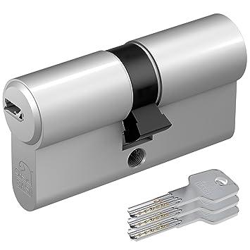 Basi-Doppelzylinder mit 3 Schlüssel mit Not-u.Gefahrenfunktion 30//30