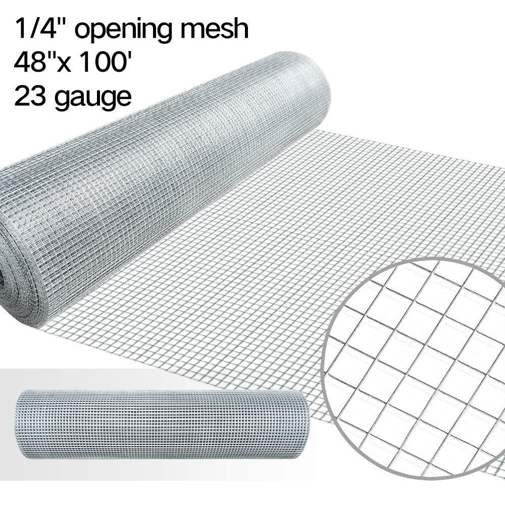 Amazon.com : 48x100 Hardware Cloth 1/4 Inch Galvanized Welded Cage ...