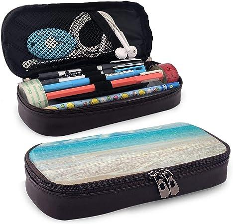 Nicokee - Estuche de piel para lápices de verano, playa, color azul: Amazon.es: Hogar
