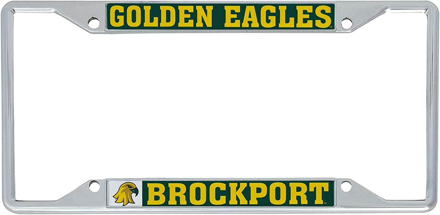 Mascot Desert Cactus College at Brockport SUNY Golden Eagles NCAA Metal License Plate Frame for Front Back of Car Officially Licensed