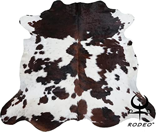 New Hilason Exotic Medium Hair-On Leather Pure Brazillian Cowhide Skin Rug