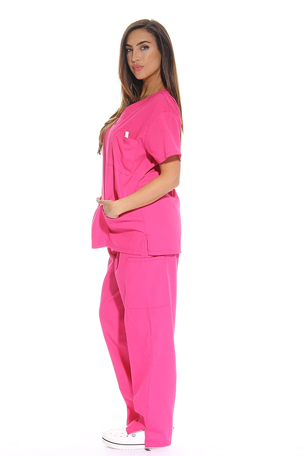 52ebb85a58f ... Just Love Womens Scrub Sets Six Pocket Medical Scrubs (V-Neck Cargo  Pant) ...
