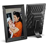 NIX 8 Inch Digital Picture Frame - Portrait or Landscape Stand, HD Resolution, Auto-Rotate, Remote Control - Mix Photos and V