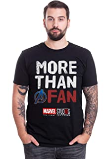 f6583196b Marvel Avengers More Than A Fan 2019 Graphic T-Shirt: Amazon.co.uk ...