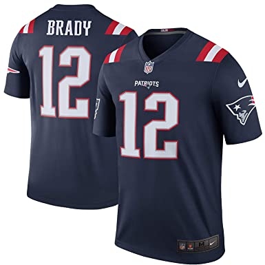 edc1abc9d Tom Brady New England Patriots Color Rush Navy Blue Nike Legend Dri-FIT  Jersey -