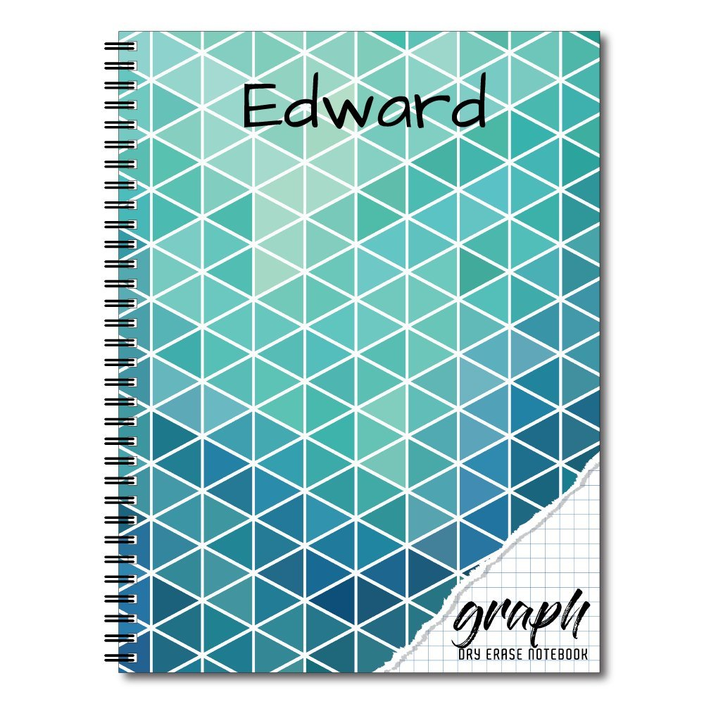 Graph Personalized Reusable Dry-Erase Spiral Notebook, 12 Sheets/24 ...