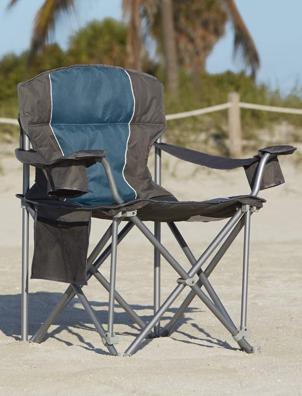 500-lb. Capacity Heavy-Duty Portable Chair Blue