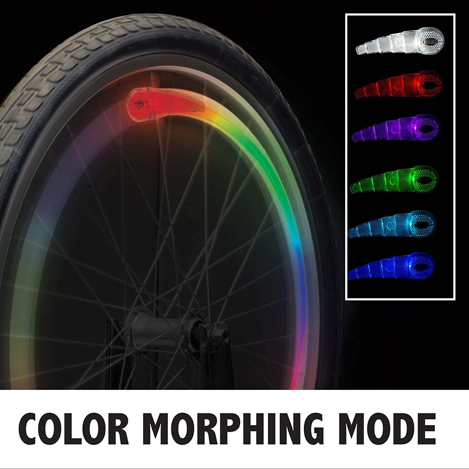 Ja-Ru Light Up Spoke Clips For Bikes ~2-Pack~ New Fun Gift Toy Different Styles