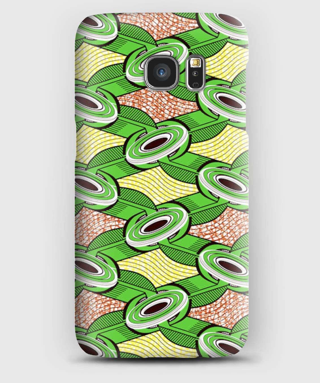 Coque Samsung S5, S6, S7, S8,sç , A3, A5, A7,A8, J3, J5,Note 4,5,8,9, Grand prime, wax africain motif Dakar sç