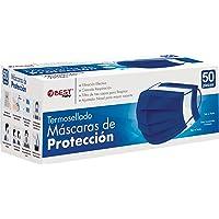 Best Trading 50 Cubrebocas de Color, Tapabocas Calidad Premium, Termosellado con 3 Capas de Protección, Mascarilla…