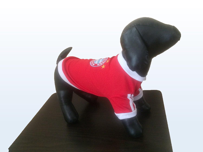9a8819331 Amazon.com   New Pet Apparel FC Bayern Munich Dog   Cat Jersey Soccer  Munchen Football T Shirt Vest (XL)   Pet Supplies