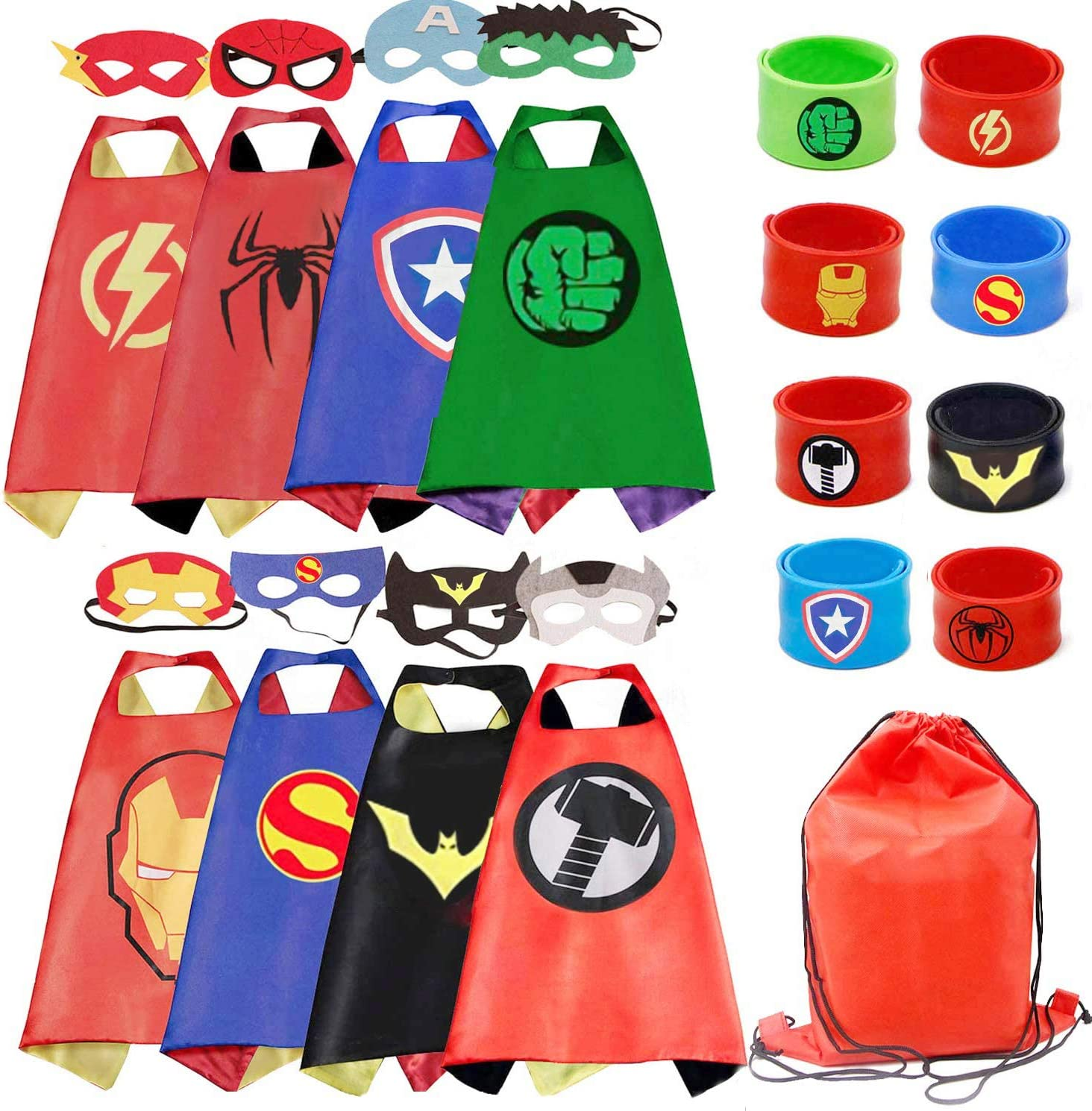 Kids Dress Up 8PCS Superhero Capes Set