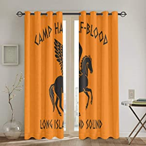 Sonickingmall Camp Half Blood Curtain 2 Panels 52 X 72 in,Thermal Insulation
