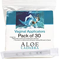 Extra Disposable Vaginal Applicators (30 pack) Individually Wrapped, Fits Threaded Vaginal Creams and Contraceptive Gels