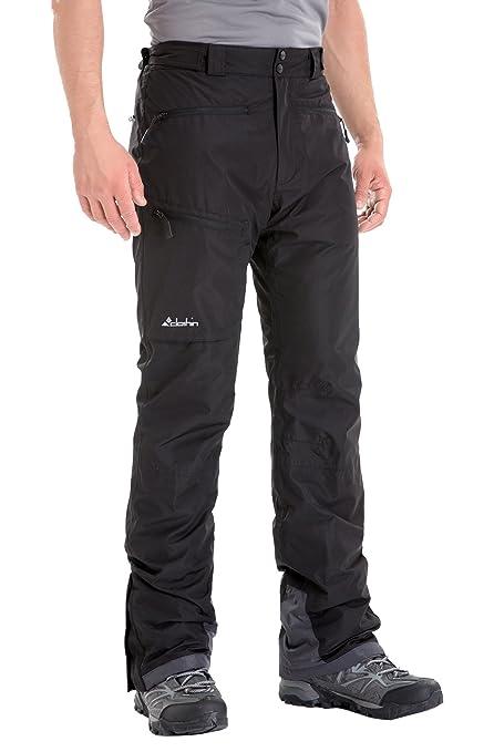 Clothin Men s Insulated Ski Pant Fleece-Lined Waterproof Snow Pants Black S  (Regular Fit 7ee95f450b8f