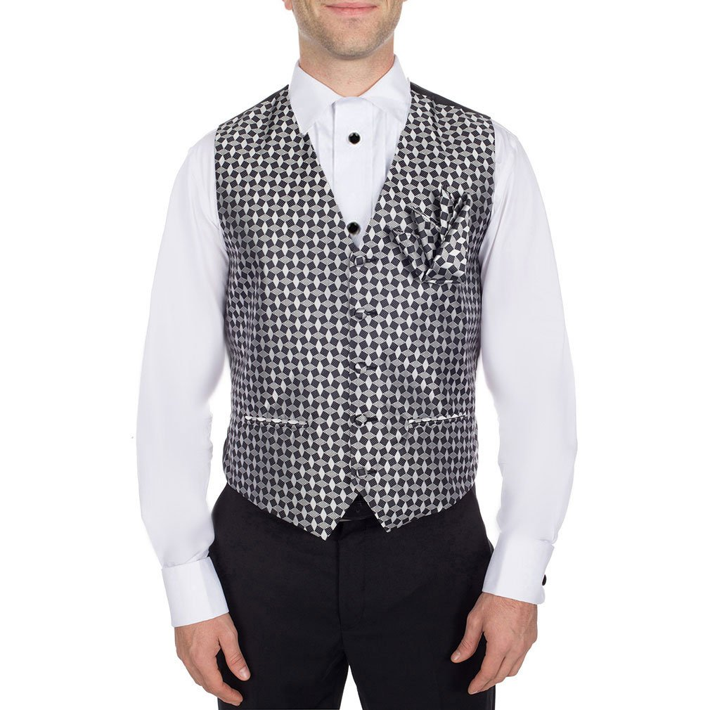 BuyYourTies BYT Men's Pattern Formal Vest for Tuxedo and Suit