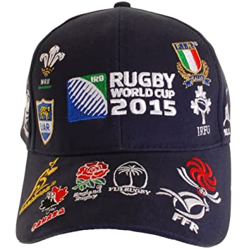 33cfb6bd060 RWC 2015 20 Nations Rugby Cap Navy - size One Size  Amazon.co.uk ...