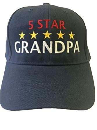 519bd35a62c Image Unavailable. Image not available for. Color  G4FF - 5 Star GRANDPA -  Hats for Men Gift for Birthdays Father s Day Constructed Navy