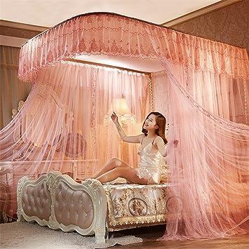 WanJiaMenu0027Shop Praktische Open Princess Moskitonetz Doppelbett Vorhänge  Schlafvorhang Bett Baldachin Net, Jade Farbe