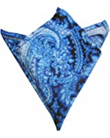 Blacksmith Blue Water Paisley Printed Pocket Square
