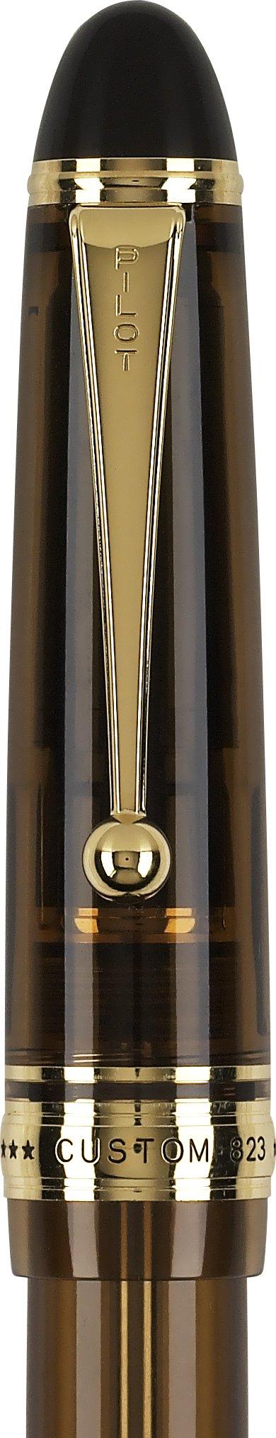 Pilot Custom 823 Fountain Pen, Amber Barrel, Blue Ink, Medium Nib (60556) by Pilot (Image #5)