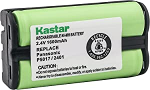 Kastar Cordless Phone Battery Ni-MH, 2.4 Volt, 1600 mAh Replacement for Vtech 80-5017-00-00 VT00-2421 VT20-2420 VT20-2430 2431 2461 Panasonic HHR-P546A KX-TG1000N KX-GTA100N GE TL96511 36511
