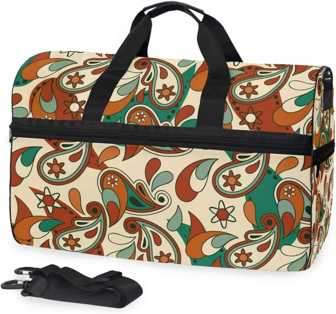 Travel Duffels Vintage Abstract Duffle Bag Luggage Sports Gym for Women /& Men