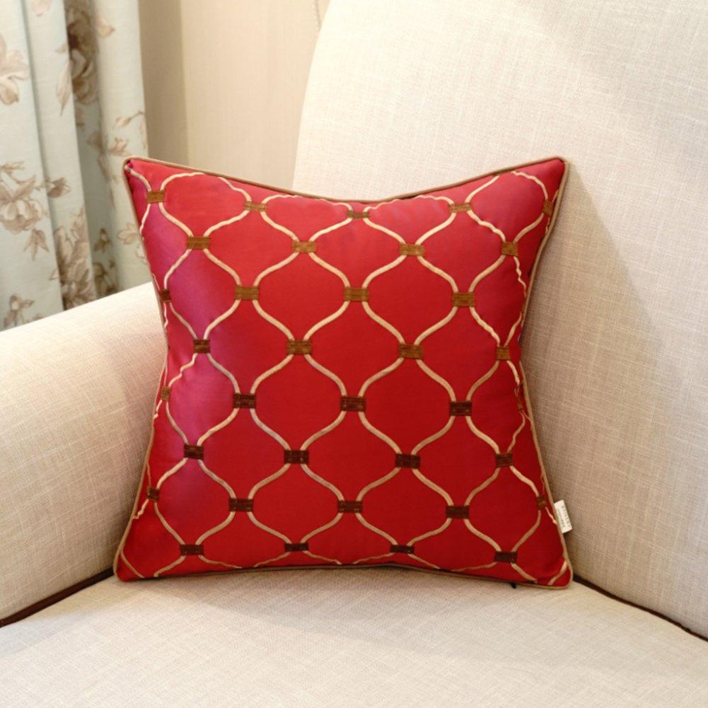 VersionB 20x20inch Mehr Farben Europäisch anmutenden bestickte Sofakissen PP Baumwolle Bett Kissen-M 50x50cm
