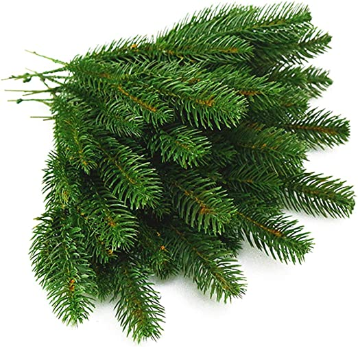 11x4.7 Inches Green-25 Pack Yarssir 25pcs Artificial Pine Green Leaves Needle Garland for Christmas Embellishing and Home Garden Decor