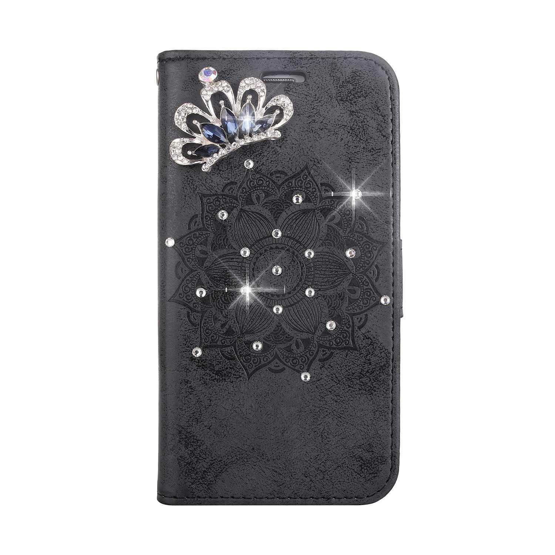 Bear Village® Coque Galaxy J5 2015, Magnétique Stand Étui en Cuir avec Dragonne Amovible, Antichoc Portefeuille Housse à Rabat pour Samsung Galaxy J5 2015, Noir