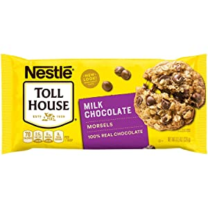 Nestle Toll House 100% Real Milk Chocolate Gluten-Free Morsels Chips for Baking, Toppings - 1 Pk (11.5 oz)
