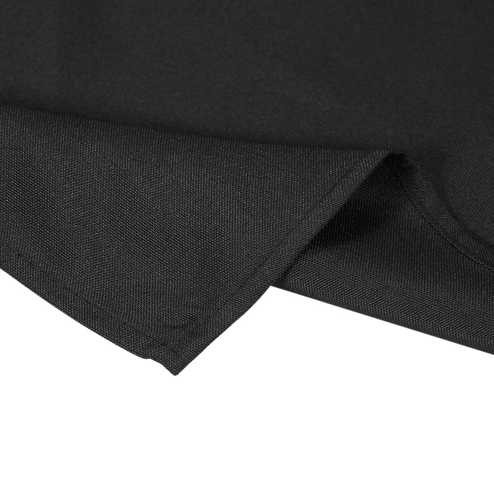 Htovila Black Rectangular Polyester Kitchen Tablecloth, Perfect for 6 foot, Dinner Parties, Holidays, Everyday use, 90 x 126 Inches by Htovila (Image #2)