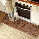 Licloud Kitchen Mat Long Anti-Fatigue Mat Comfort Floor Mat Non-Toxic Mat, 24 x 70 Inches, Antique Light Flower