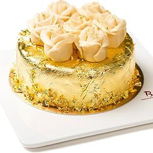 Gold Edible Glitter for Cake Decoration 24K Genuine Food Gold Leaf Edible Gold Leaf Sheet Paper Food Cake Decoration 1.71.7 Inch 10 Sheets