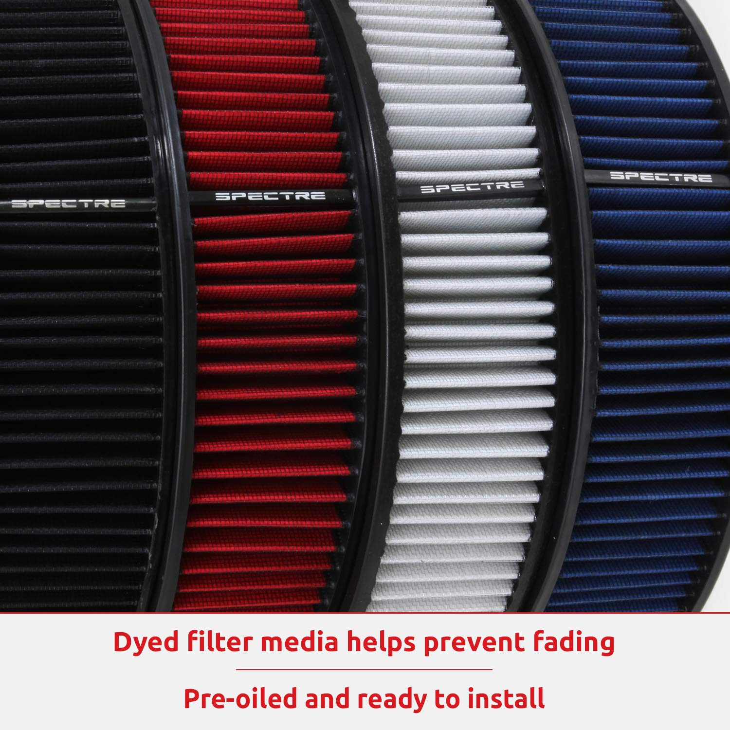 Spectre Performance 9738 Universal Clamp-On Air Filter: Round Tapered; 3 in/3.5 in/4 in (102 mm/89 mm/76 mm) Flange ID; 8.75 in (222 mm) Height; 6 in (152 mm) Base; 4.75 in (121 mm) Top by Spectre Performance (Image #7)