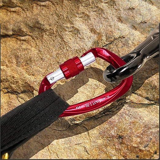 NewDoar Mosquetón de escalada de roca 25 KN ultraligero con bloqueo de montaña y cierre de tornillo