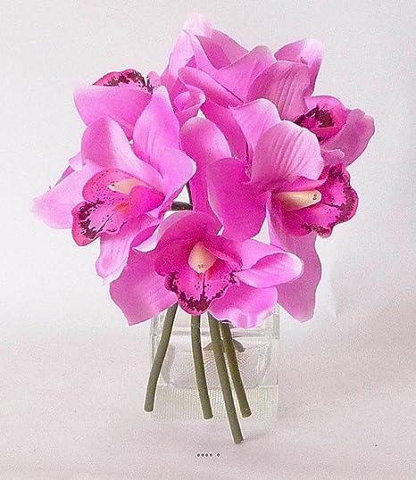 Bouquet De Roses Artificielles Fushia
